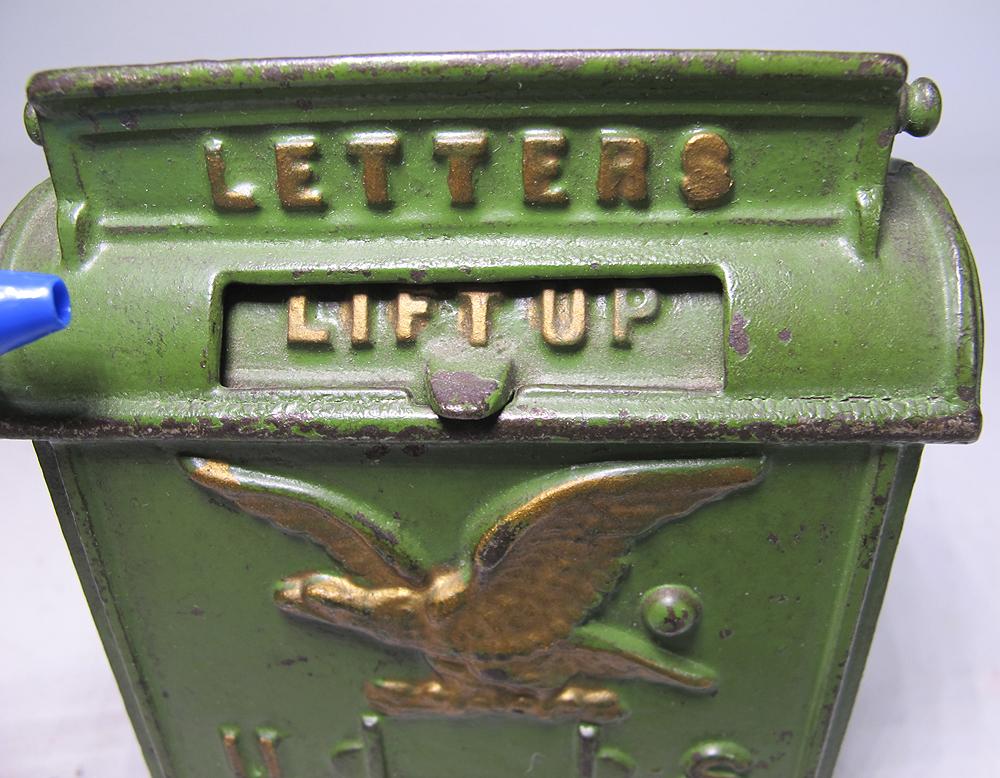 Antique C 1880 Kenton Cast Iron US MAIL Eagle Miniature