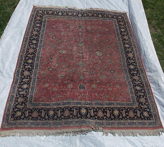Estate! Vintage Indo-persian Tabriz Style Floral Area Rug